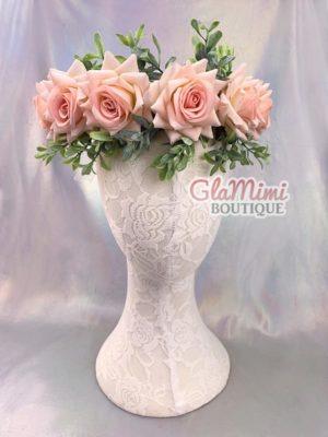Rose Flower Crown Pink 1