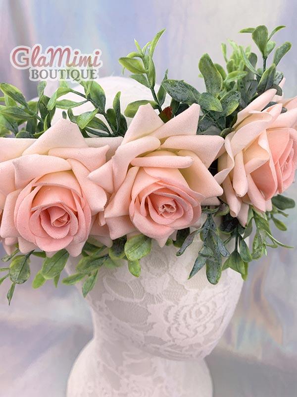 Rose Flower Crown Pink 2