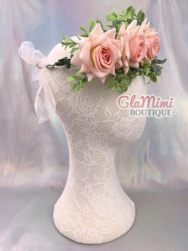 Rose Flower Crown Pink 3