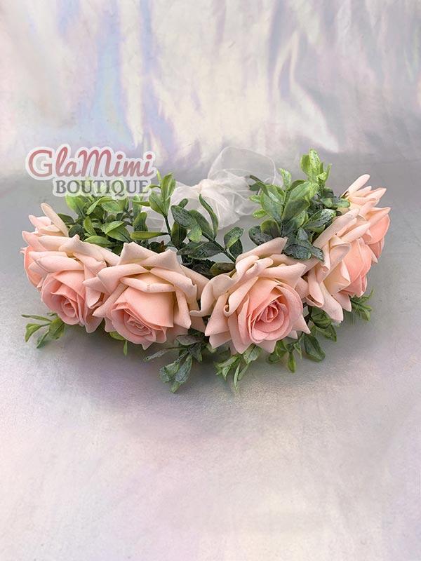 Rose Flower Crown Pink 4