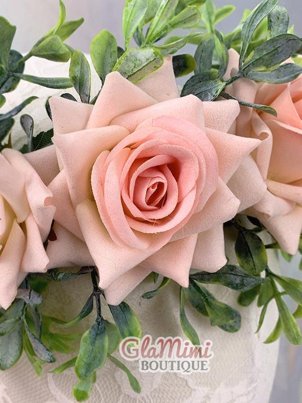 Rose Flower Crown Pink 5