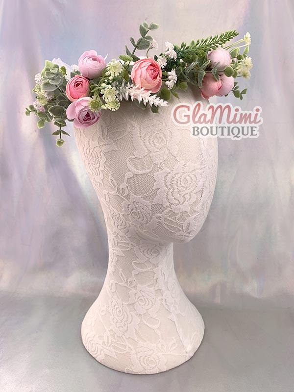 Camellia Flower Crown Pink 1