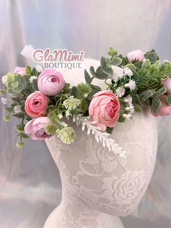 Camellia Flower Crown Pink 2