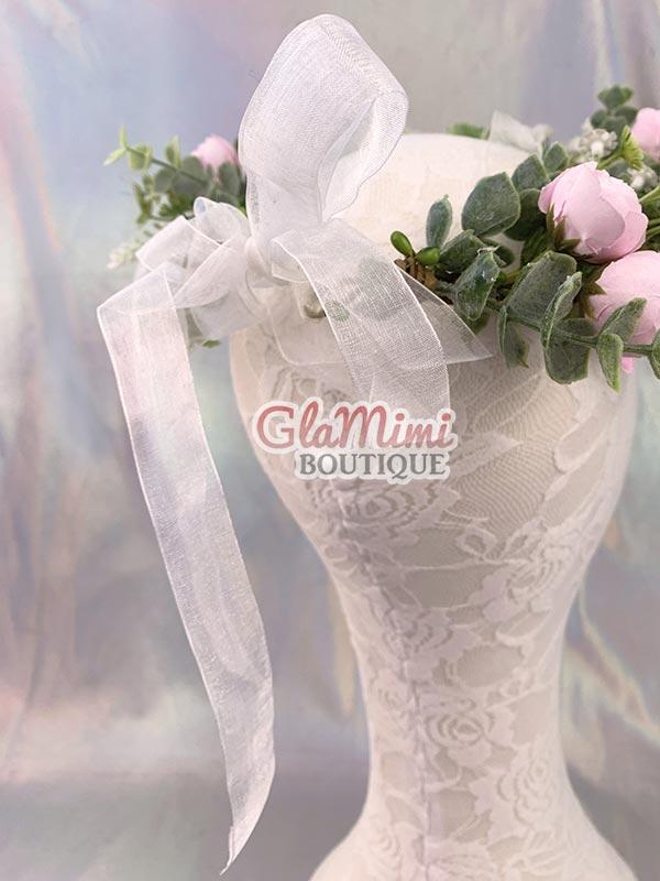 Camellia Flower Crown Pink 3