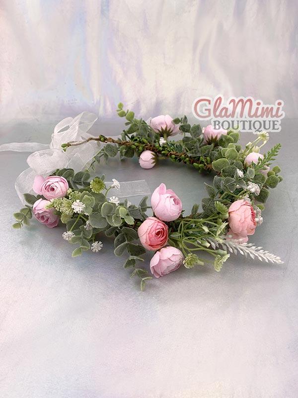 Camellia Flower Crown Pink 4