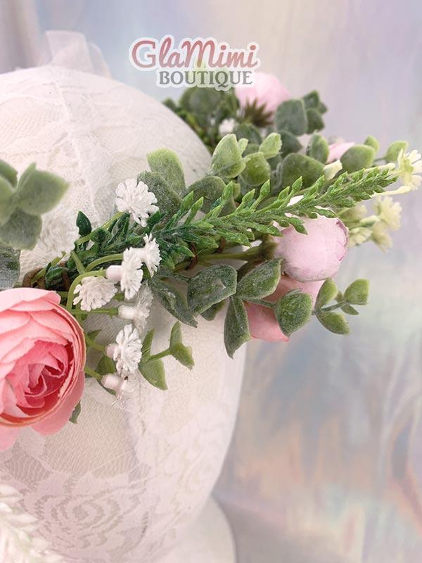 Camellia Flower Crown Pink 5