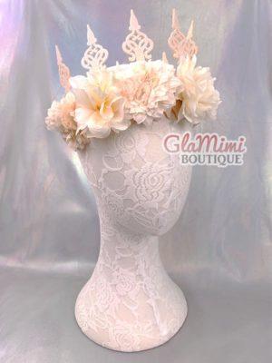 Cream Flower Fairy Crown 1