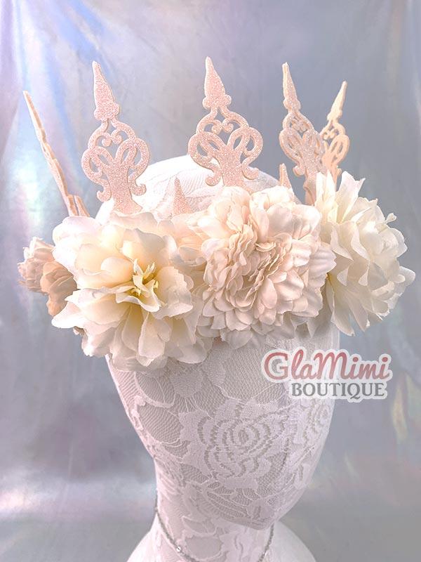 Cream Flower Fairy Crown 2