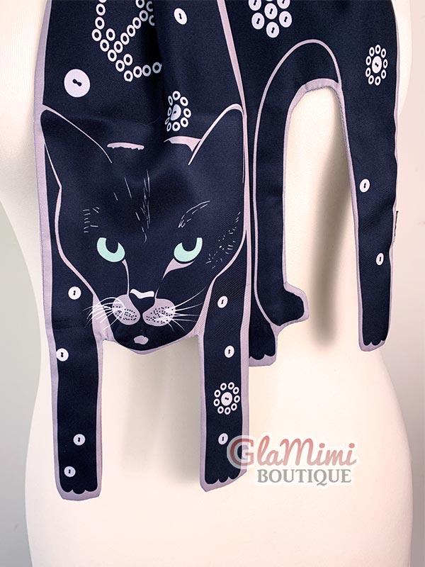 Royal Cat Scarf Black 1