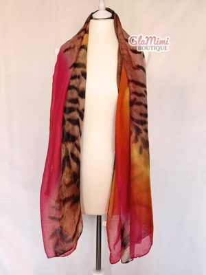 Tiger Gradient Scarf Red 1